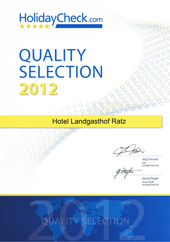 Holidaycheck Quality Selection 2012: Landgasthof Ratz in Rheinau
